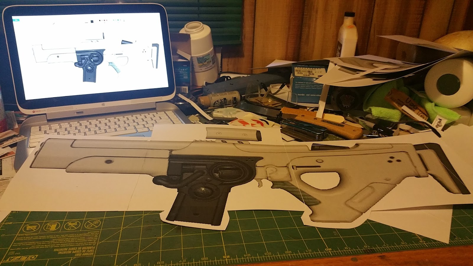 Weaselhammer props destiny hung jury scout rifle build i used 12 inch sintra reclaimed from old signage thrown out from a remodel at work i cut out the basic frame with the intention of building it in layers malvernweather Choice Image