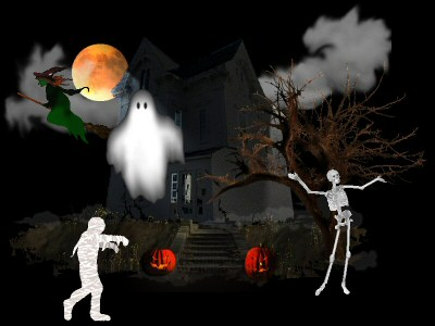 halloween skeleton wallpaper - photo #15