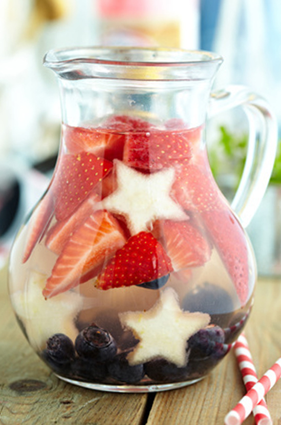 red, white, and blue sangria recipe