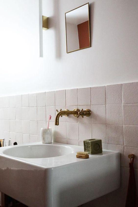 casinha colorida banheiros e lavabos no estilo art d co. Black Bedroom Furniture Sets. Home Design Ideas