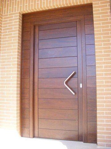 15 custom made exterior front entry solid wooden door for Puertas de madera exterior precios