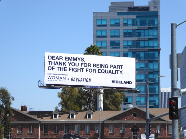 Woman Gloria Steinem Gaycation Viceland 2016 Emmy billboard