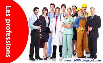 جميع المهن بالفرنسية مترجمة بالعربية