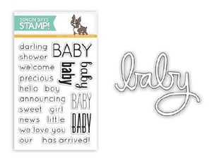 DIE & STAMPS SET DARLING BABY