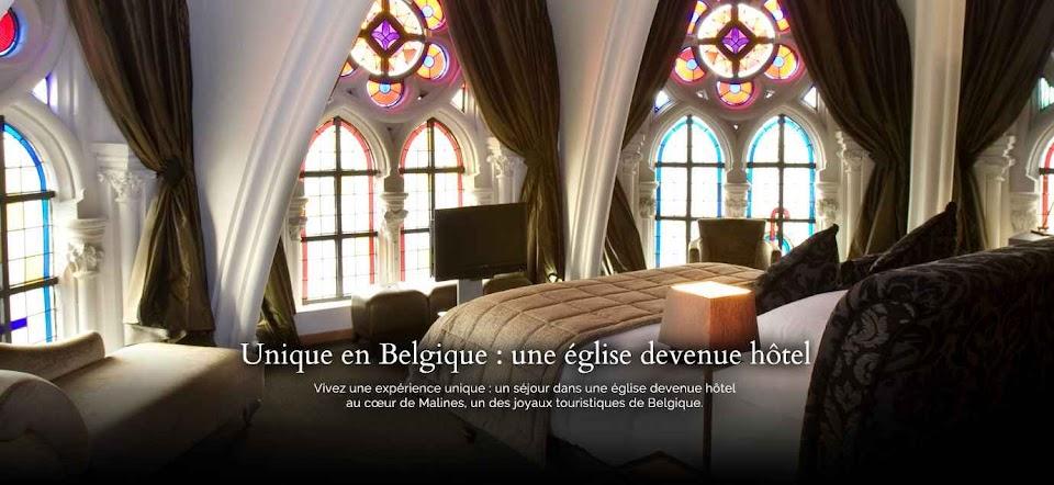 Igreja transformada em hotel em Malines, Bélgica.