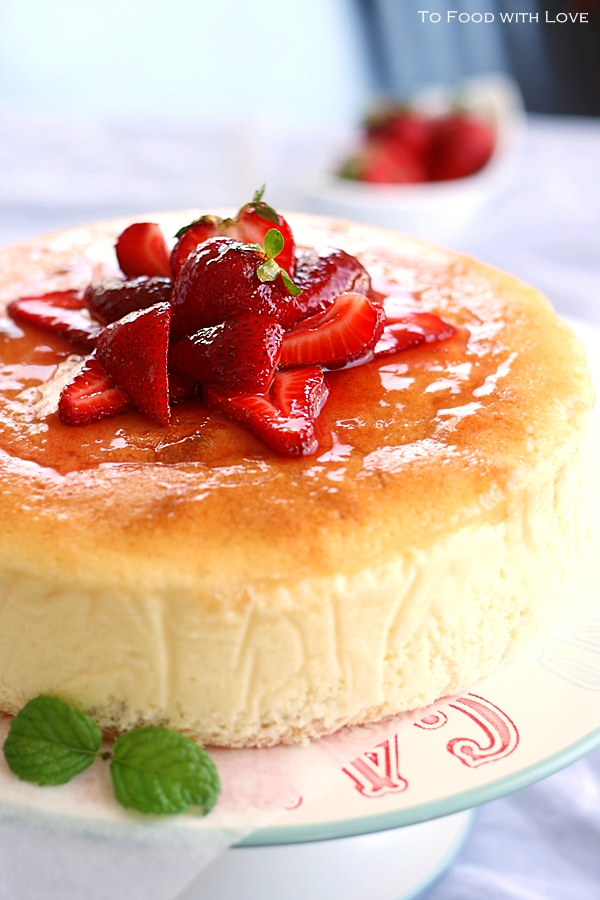 To Food with Love: Creamy Japanese Cheesecake with Sponge base