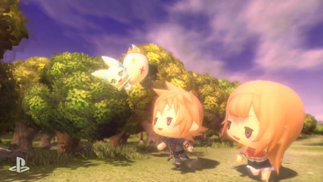 World of Final Fantasy chibi super-deformed Square Enix PlayStation 4 Vita Cloud
