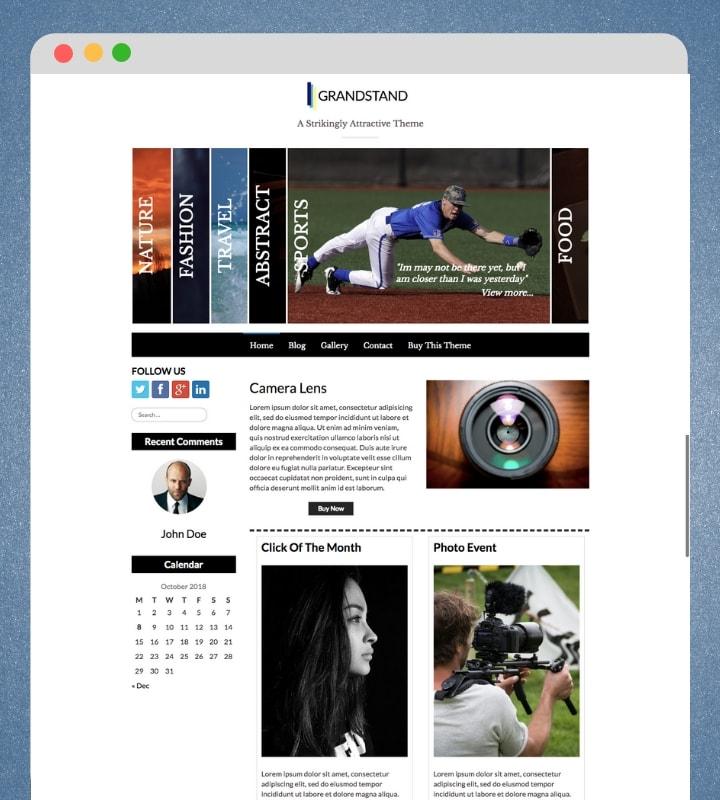 Grandstand (Responsive Portfolio WordPress theme)