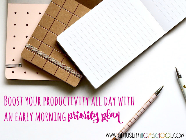 boost productivity with a priority plan