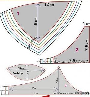 2 Modelos de Sutiã Com Moldes Para Imprimir