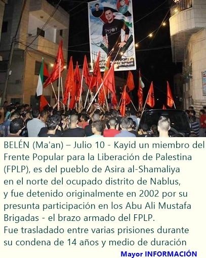 Prisionero palestino retenido por Israel sin cargos entra en el día 28 de huelga de hambre