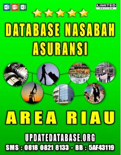 Jual Database Nasabah Asuransi Riau