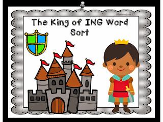 http://www.teacherspayteachers.com/Product/King-of-ING-Word-Sort-and-Craftivity-1556496