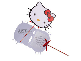Hello Kitty themed Christening invitations for girl C1019