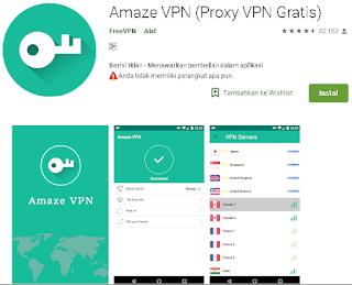 Ulasan Tentang Amaze VPN (Proxy VPN Gratis) Android
