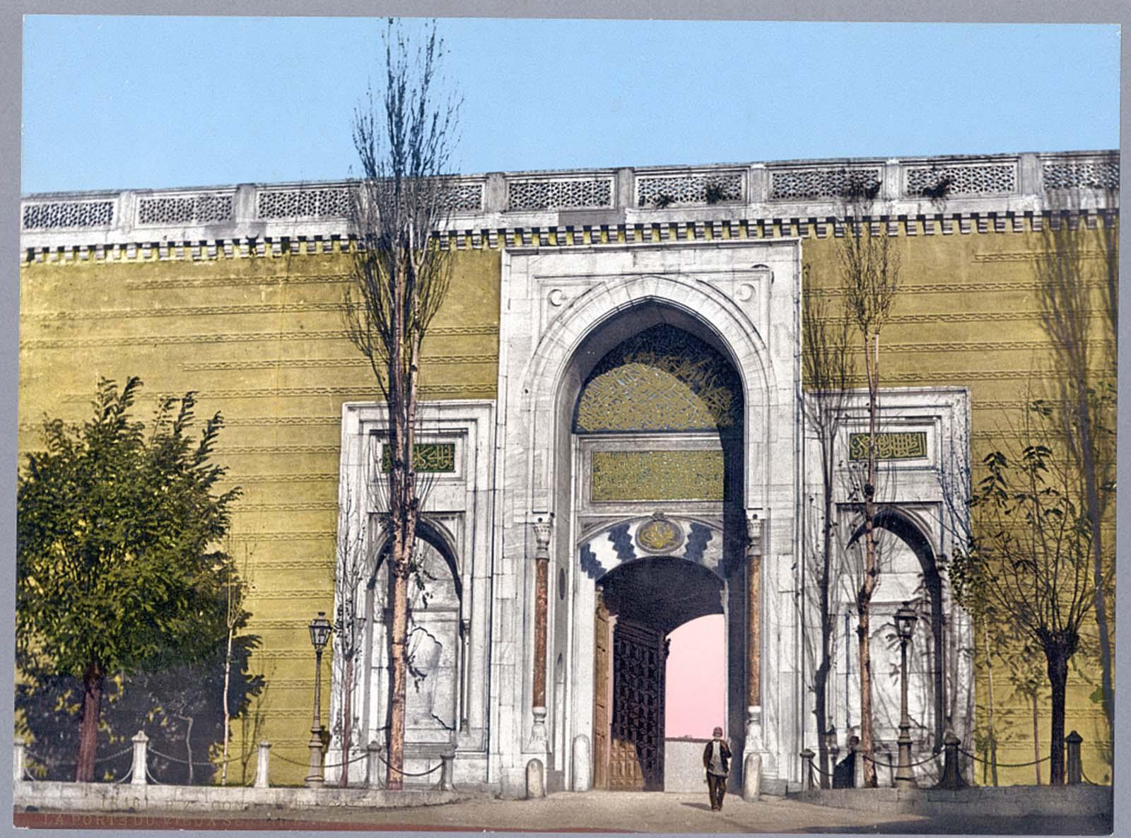 Imperial gate, Topkapi Palace.