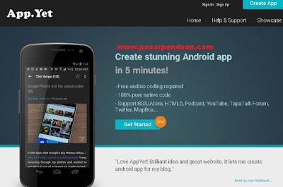 membuat aplikasi android tanpa coding dengan appyet
