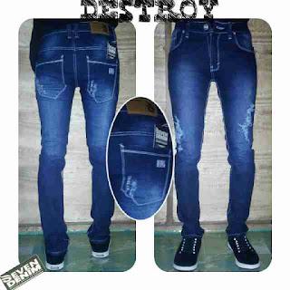 celana jeans sobek pria skinny original distro bandung
