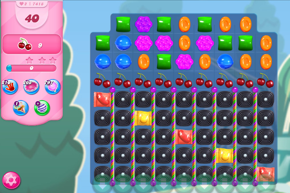 Candy Crush Saga level 7418