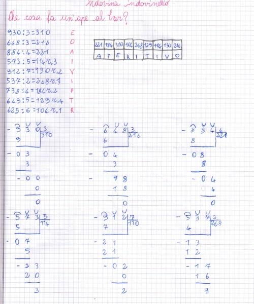 Ben noto didattica matematica scuola primaria: Divisioni in colonna (parte  ES58