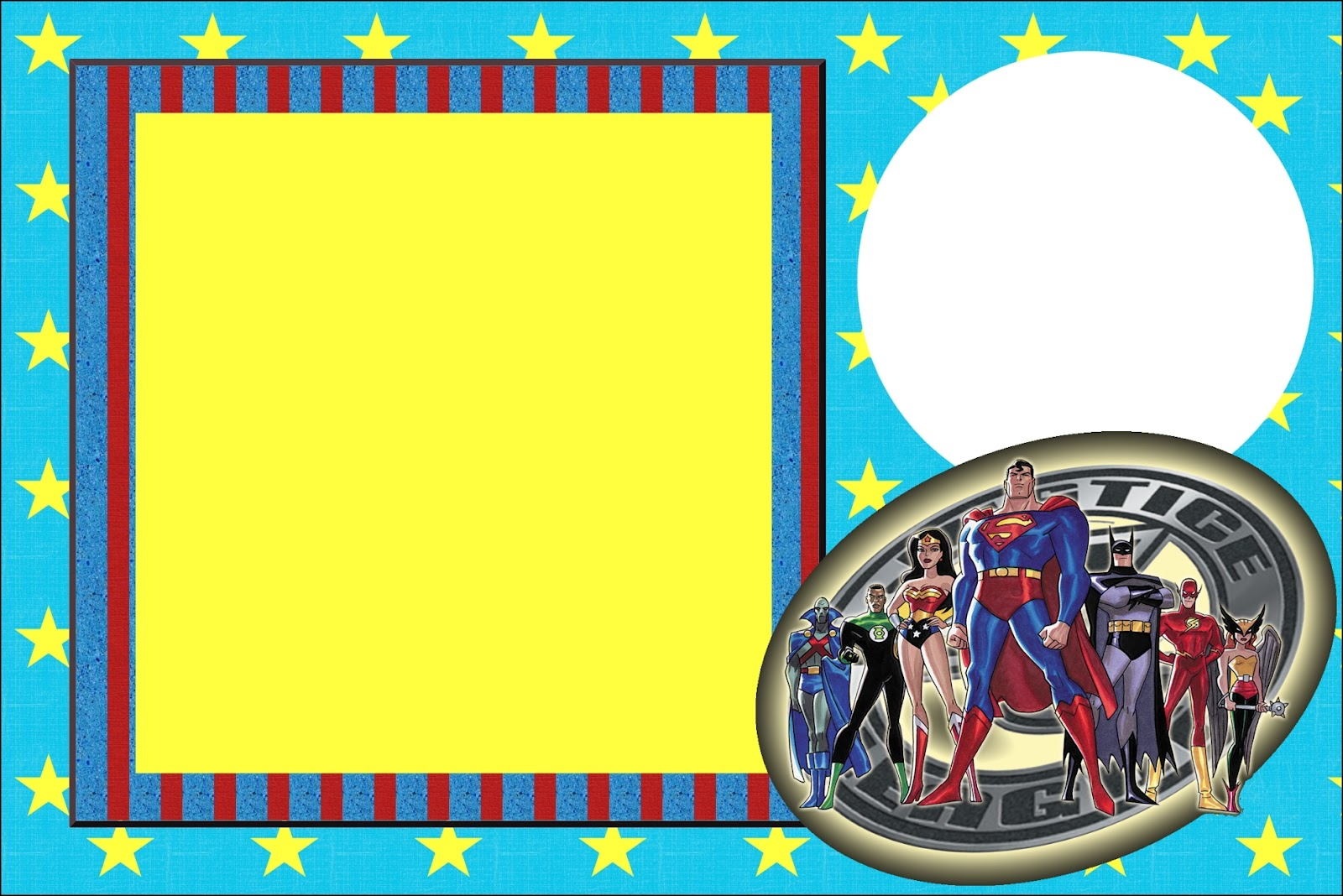Justice League Free Printable Invitations Labels Or Cards