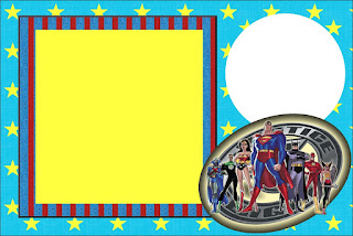 Justice League, Free Printable Invitations, Labels or Cards.