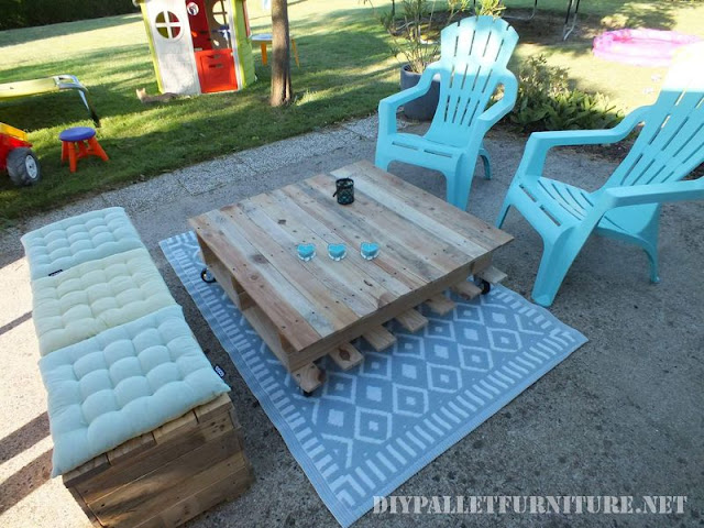 Espacio de relax para la terraza con - Terraza con palets ...