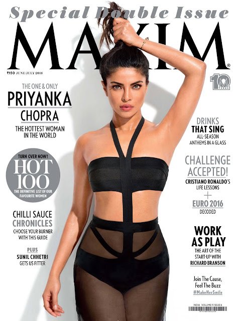 Actress, Singer, @ Priyanka Chopra hottest woman slaying on Maxim Magazine June/July 2016