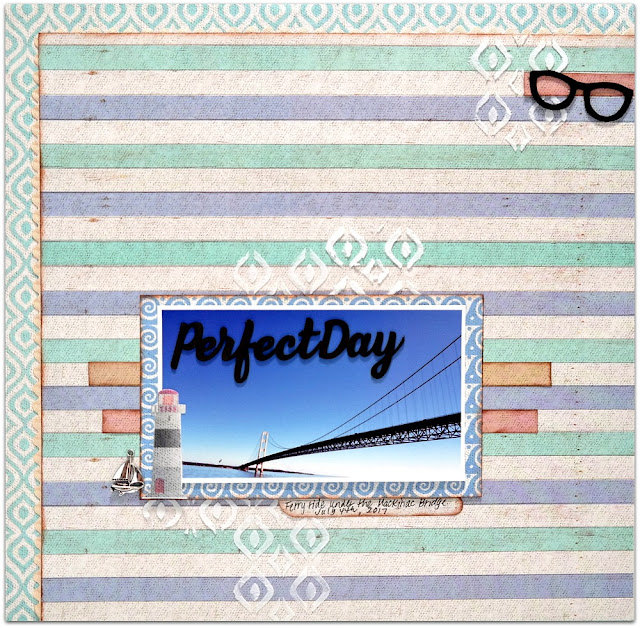 Perfect Day Summer Loving Layout by Dana Tatar for FabScraps