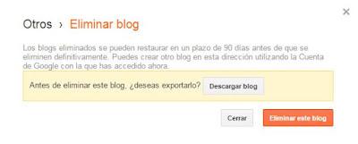 Como eliminar permanentemente blog de blogger