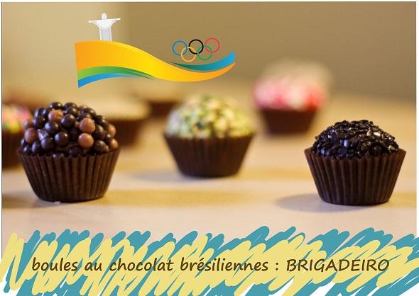 boules au chocolat au lait concentré sucré, cacao, sans gluten, cuisine brésilienne