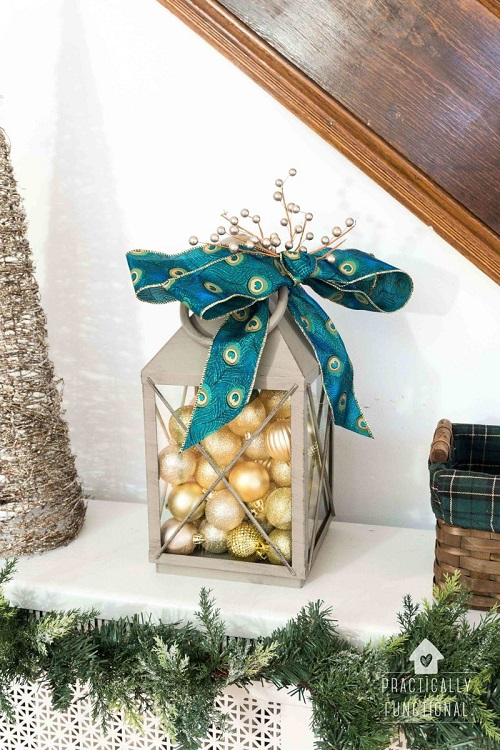 simple diy christmas lantern decoration
