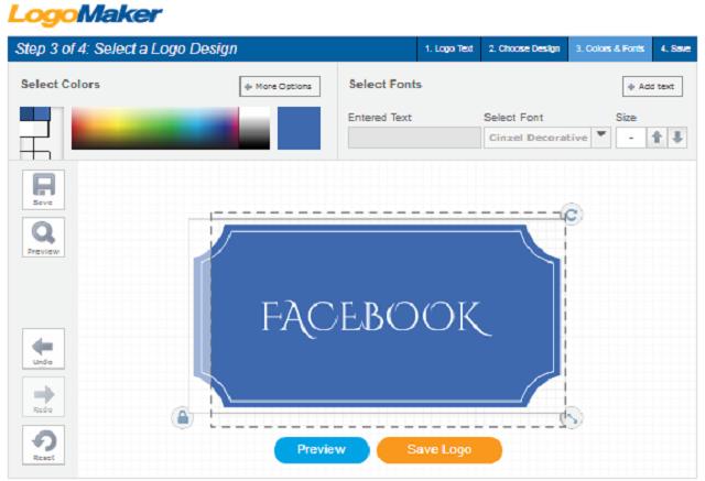 Contoh Cara Desain Tulisan Facebook Dengan Font Gratis Logo Maker App
