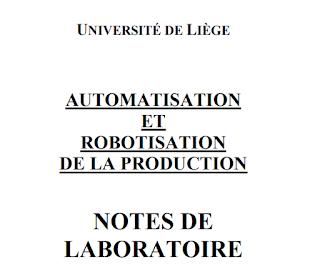 AUTOMATISATION ET ROBOTISATION DE LA PRODUCTION
