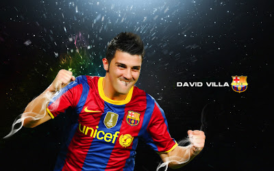 Football Super Star Player: David Villa Latest HD Wallpapers 2012-2013