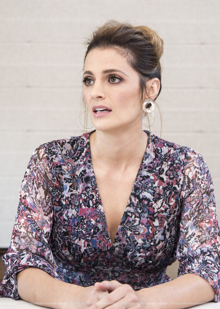 Stana Katic attends Absentia Press Conference in Los