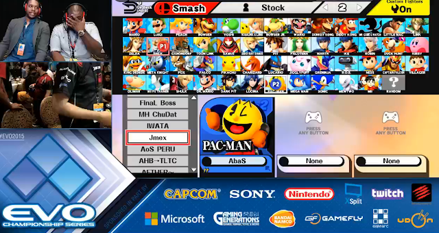 EVO Championship Series 2015 Pac-Man Super Smash Bros. For Wii U quarterfinals Nintendo EE