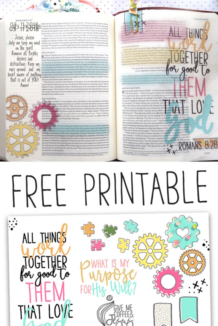 Craft His Love Bible Journaling Romasn 8:28