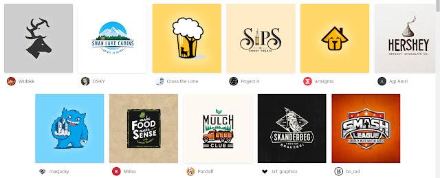 katalog design logo dari 99designs.com