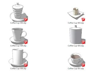 komponen sketchup cup coffe