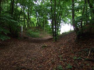 Überreste eines keltischen Zangentors