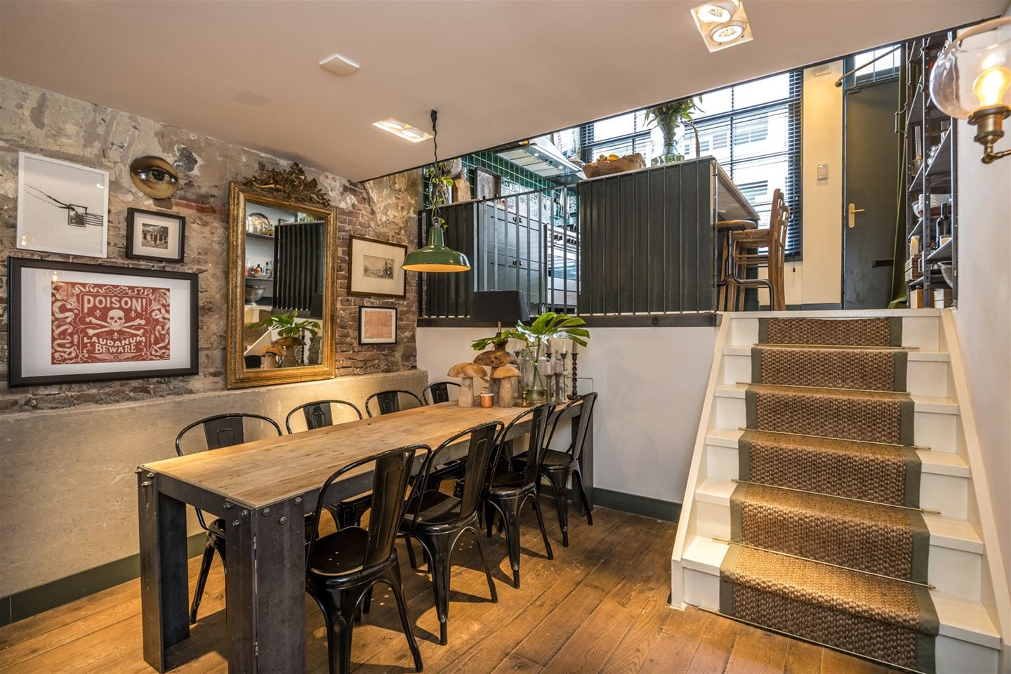 decordemon former garage in amsterdam transformed into an amazing industrial style home. Black Bedroom Furniture Sets. Home Design Ideas