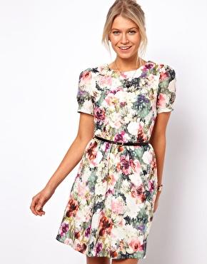 Floral Asos Tea Dress