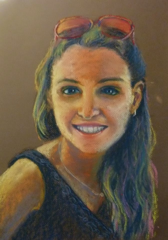 Oil Pastel Portrait - Mie Mawson - Southern In-Law Recent Things