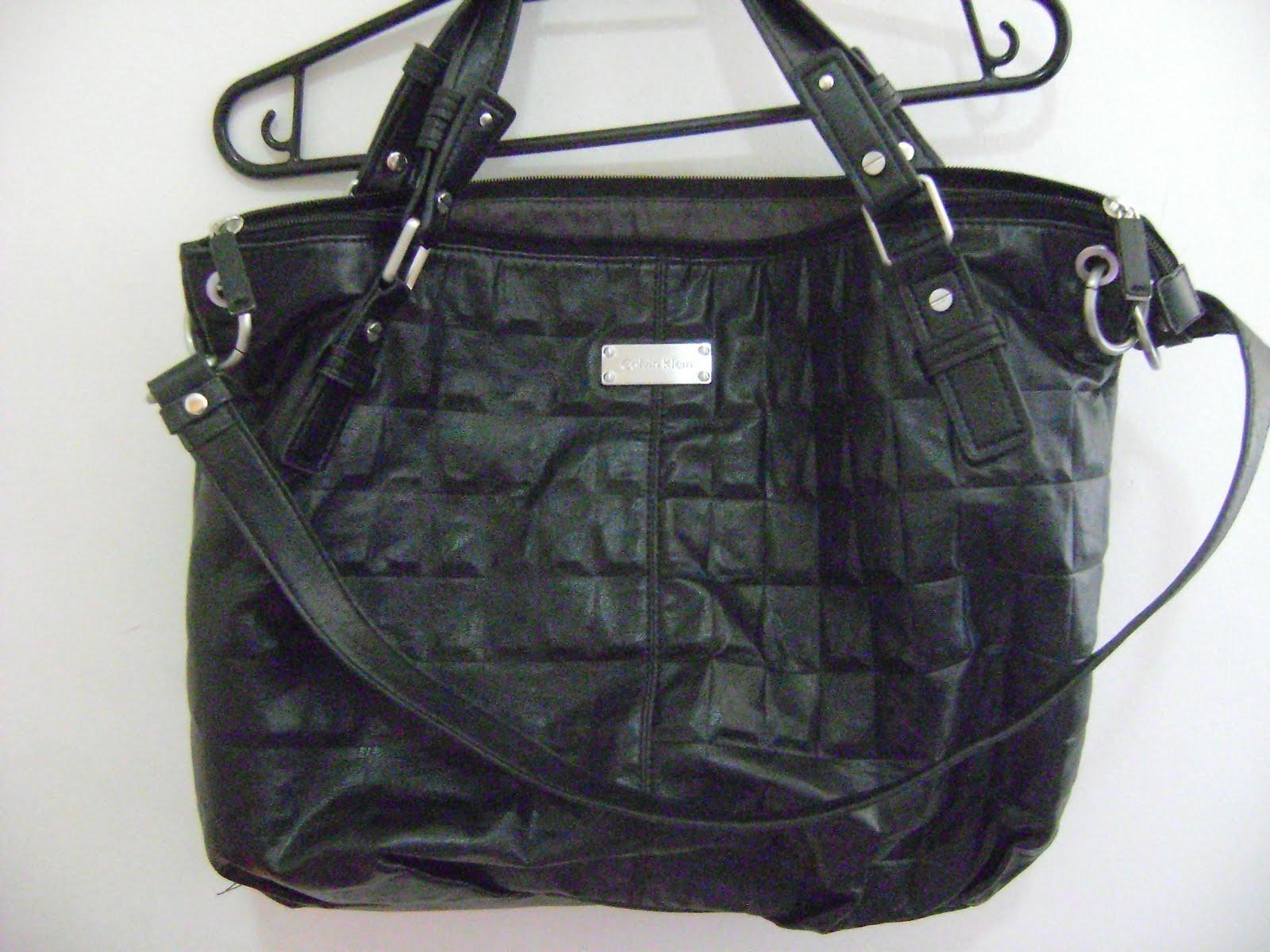 feirão Chic brechó  Bolsa Calvin Klein b5cb556d52