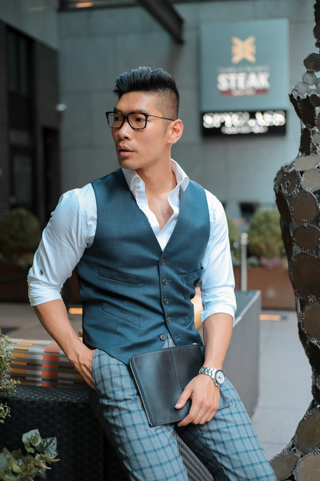 Men's Summer Style, How to Pattern Suit, Thom Browne Eyeglasses, Suede Loafers, Tissot, Menswear Levitate Style, Leo Chan
