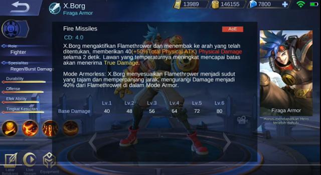 skill pertama X.Borg