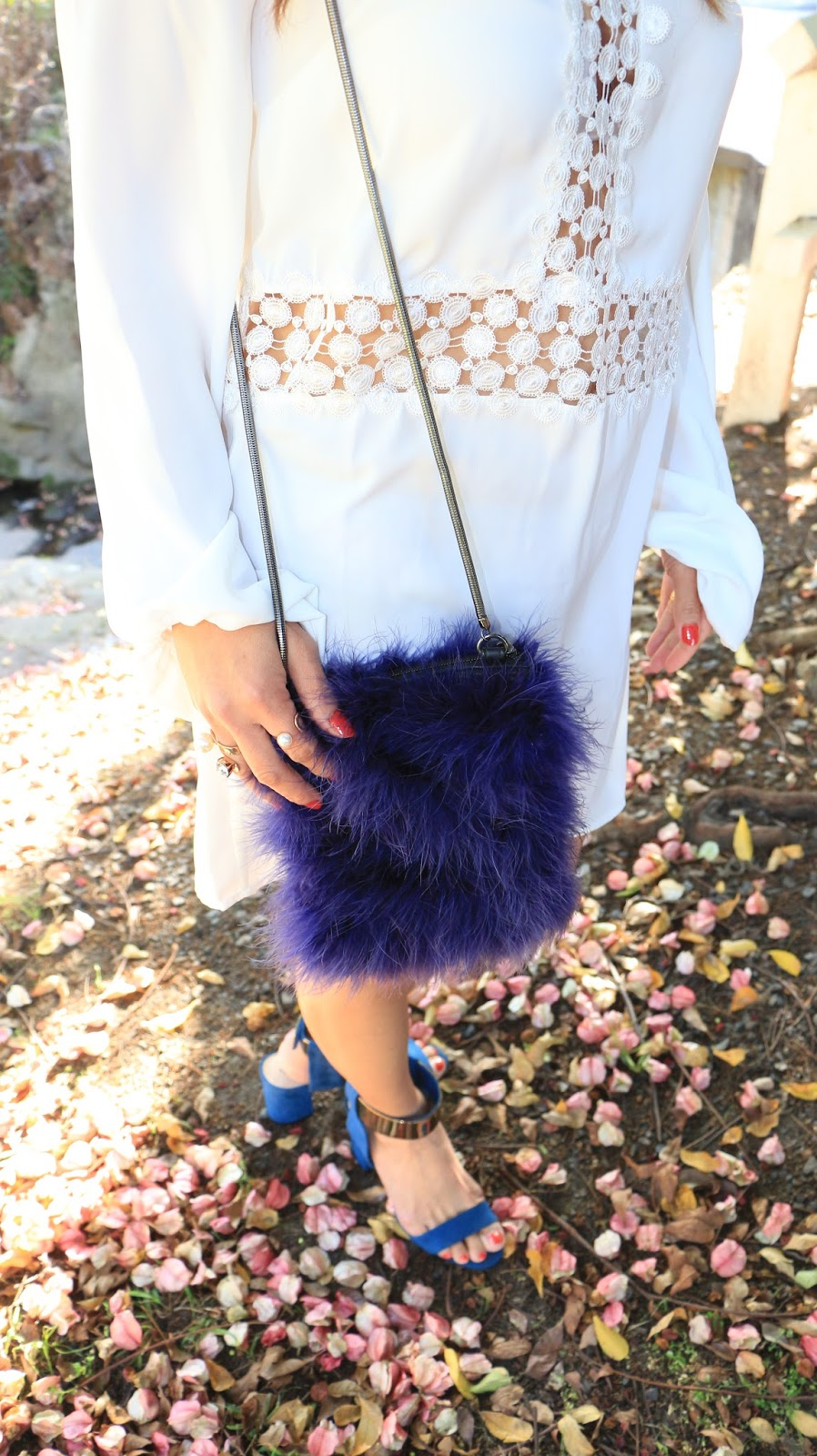 topshop furry bag