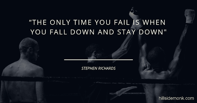 Short Uplifting Quotes To Lift You In Hard Times-11 The only time you fail is when you fall down and stay down