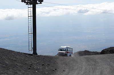 Sicilië - The Etna - bus to the top